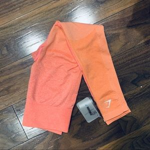 Ombre Seamless Peach Coral Gymshark Leggings